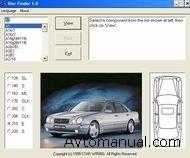 Каталог Мерседес Стар Финдер содержит информацию о расположении на автомобиле элементов электрических схем...