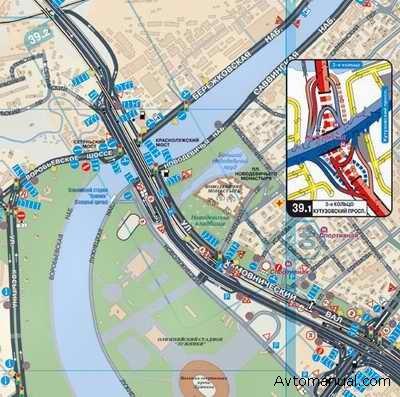 карта москвы с дорожными знаками.