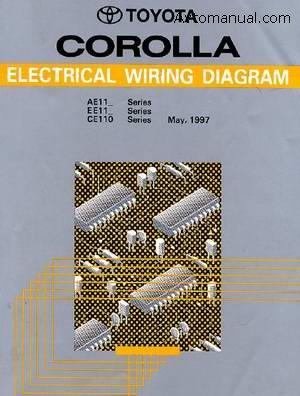 Toyota Corolla Elecrical Wiring Diagram - сборник электрических схем для автомобиля Toyota Corolla с 1997 года...