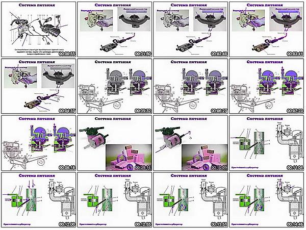 Сборка 4 тактного двигателя скутера