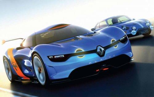 �������� Renault Alpine ������� ����� ��������� ���� ��������