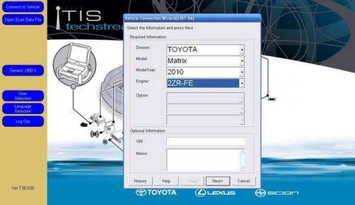 ��������� ����������� Toyota Techstream ������ 10.00.028